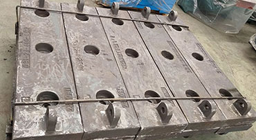 Mill Liners, manganese steel, wear plates